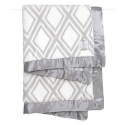 Little Giraffe Luxe™ Modern Classic Silver Diamond Baby Blanket