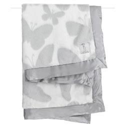 Little Giraffe Luxe™ Modern Classic Silver Butterfly Baby Blanket