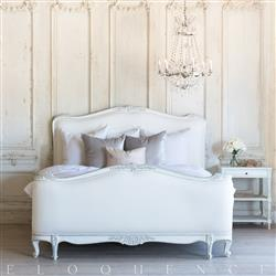 Eloquence Sophia Queen Bed in Silver Antique White Two-Tone