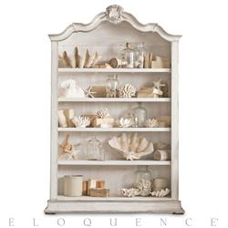 Eloquence Rousseau Bookcase in Silver and Pale White