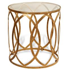 Prima Hollywood Regency Gold Grand Side Table | ILH-129091