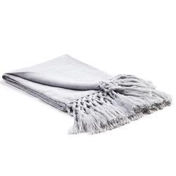 Nylah Modern Woven Baby Alpaca Throw Blanket - Grey