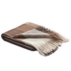 Charlotte Modern Classic Brown Wool Alpaca Throw Blanket