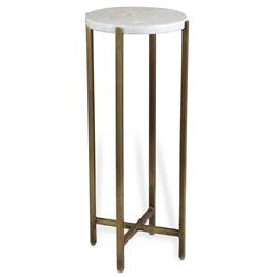 Zahara Round Ivory Marble Side Table