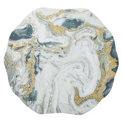 Kim Seybert Cosmos Hollywood Regency Marbled Ivory Placemat - Set of 4