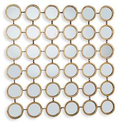 Mila Hollywood Regency Round Mirror Mosaic Wall Decor