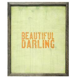 Beautiful Darling Reclaimed Wood Art Print