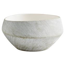 Selene Modern Classic White Ceramic Basic Bowl - Small
