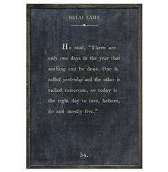 Dalai Lama Quote - Love Believe Live Wood Art Print - Charcoal - 48x36