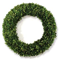 Marin French Country Green Boxwood Wreath - Small
