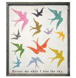 Excuse Me While I Kiss The Sky Wood Art Print -28x24