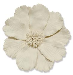 Georgia Global Ivory Ceramic Floral Wall Sculpture