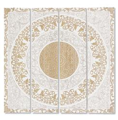 Mandala Global Bazaar White Wood Wall Mural Art