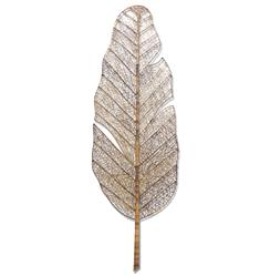Nito Vine Banana Palm Leaf Coastal Style Large Wall Sculpture - Outdoor Safe