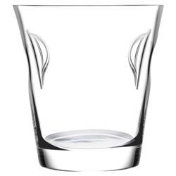 Nude Glass Glacier Modern Classic Clear Crystal Ice Bucket
