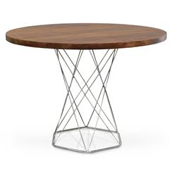 Stockholm Industrial Modern Solid Wood Round Dining Bistro Table