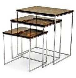 Palecek Penshell Global Bazaar Penshell Nesting Side Tables - Set of 3