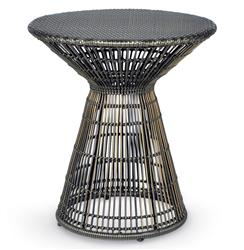 Palecek Verona Coastal Beach Espresso Wicker Side Table