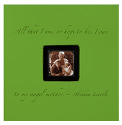 Painted Wood Rustic Photo Box - All That I Am - Apple Green