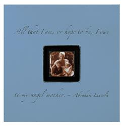 Painted Wood Rustic Photo Box - All That I Am - French Blue