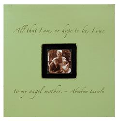 Painted Wood Rustic Photo Box - All That I Am - Key Lime