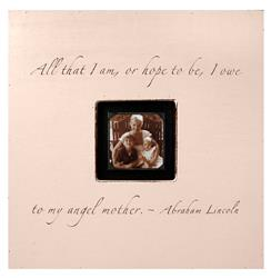 Painted Wood Rustic Photo Box - All That I Am - Pink