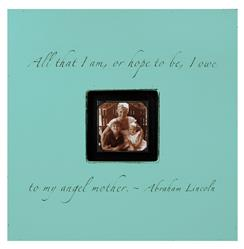 Painted Wood Rustic Photo Box - All That I Am - Turquoise