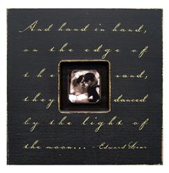 Painted Wood Rustic Photo Box - And Hand In Hand - Black