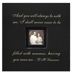 Painted Wood Rustic Photo Box - And You Will Always - Black