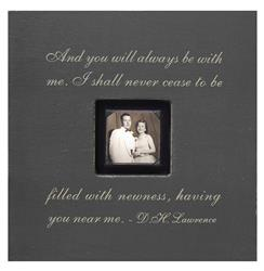 Painted Wood Rustic Photo Box - And You Will Always - Slate