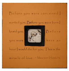 Painted Wood Rustic Photo Box - Before You Were Conceived - Terra Cotta