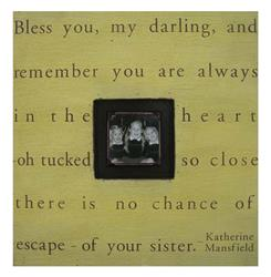 Painted Wood Rustic Photo box - Bless You My Darling - Harvest | SUGAR-PB111-HV