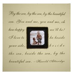 Painted Wood Rustic Photo Box - By The Sea - Cream