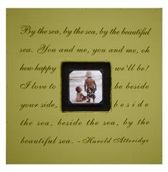 Painted Wood Rustic Photo box - By The Sea - Harvest | SUGAR-PB112-HV