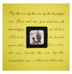 Painted Wood Rustic Photo Box - By The Sea - Yellow