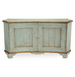 John-Richard Claude French Country Light Blue Gold Gilded Buffet Sideboard