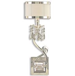 John-Richard Starlight Hollywood Silver White Crystal Bead Sconce - Left