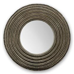 Palecek Kenis Coastal Beach Grey Braided Rattan Frame Round Wall Mounted Mirror