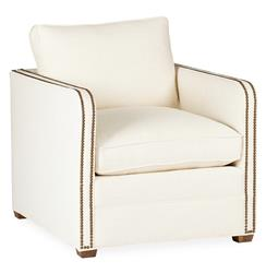 Reeves Classic  Ivory Linen Upholstered Arm Chair