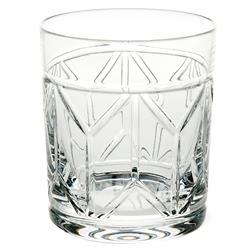 Vista Alegre Avenue Modern Classic Clear Crystal Old Fashioned Glass - Set of 4