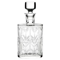 Vista Alegre Avenue Modern Classic Clear Crystal Whiskey Decanter