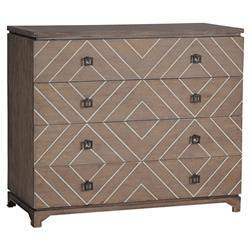 Terrance Modern Global Geometric Bone Oak Chest Dresser