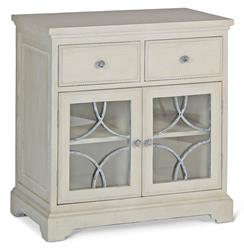 Leigh French Country Grey Wood Storage Bar Cabinet