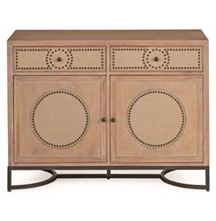 Ludlow Hollywood Regency Deco Oak Media Cabinet