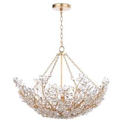 Regina Andrew Chesire Regency Crystal Flowers Shade Gold Metal Chandelier