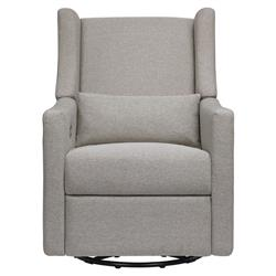 Babyletto Kiwi Grey Eco-Performance Electronic Recliner and Swivel Glider with USB Port