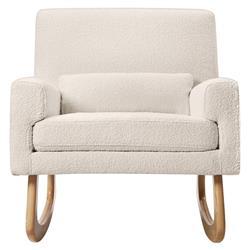 Nursery Works Sleepytime Modern White Boucle Upholstered Rocker