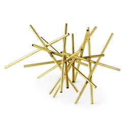 Haystack Industrial Loft Gold Straw Sculpture