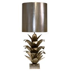 Plantation Global Bazaar Silver Pineapple Table Lamp