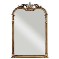 Racquel French Antique Champagne Silver Leaf Rectangular Vanity Wall Mirror